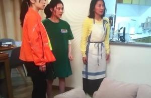 隕石家族6話北香那衣装,緑,ワンピース