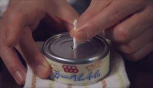 家政夫のミタゾノ2020,4話ツナ缶で簡易コンロ