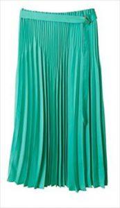 緑プリーツスカート