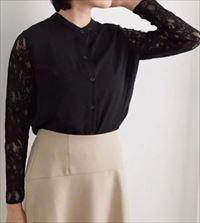 「SUITS」新木優子衣装袖レースブラウス