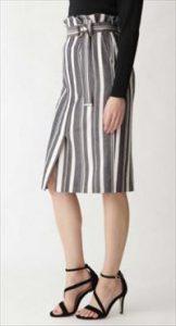 「SUITS」新木優子衣装ストライプタイトスカート