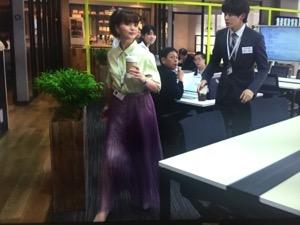 「私の家政夫ナギサさん」5話多部未華子衣装紫スカート