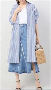 「私の家政夫ナギサさん」5話多部未華子衣装ストライプシャツワンピース