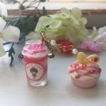 ★キンプリハンドメイド×スイーツデコ★スタバ風ドリンクカップとケーキのバッグチャーム