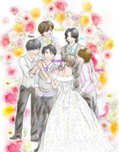 キンプリイラスト結婚式